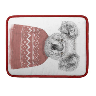 Winter koala (red) sleeve for MacBooks