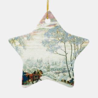 Winter._Kustodiev Ceramic Ornament
