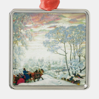Winter._Kustodiev Metal Ornament
