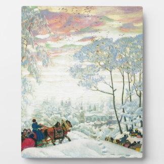 Winter._Kustodiev Plaque