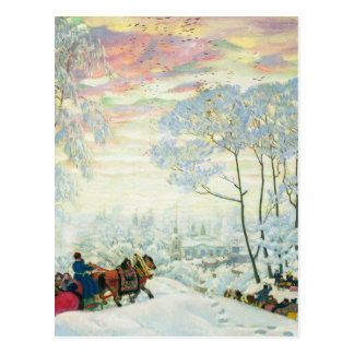 Winter._Kustodiev Postcard