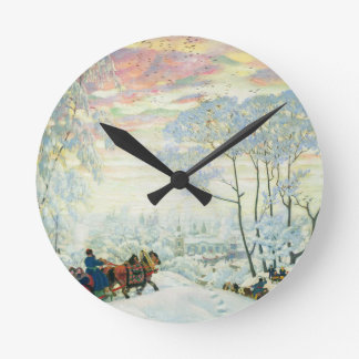 Winter._Kustodiev Round Clock
