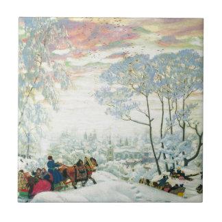 Winter._Kustodiev Tile