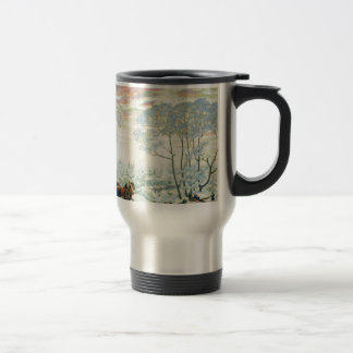 Winter._Kustodiev Travel Mug