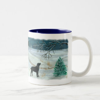 Winter Labrador Mug