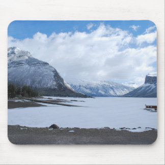 Winter Lake and Mountain Scenery Mouse Pad