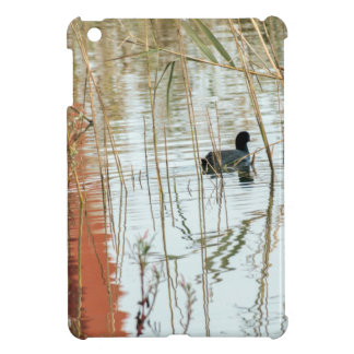 Winter lake colors black dark duck swimming iPad mini cover