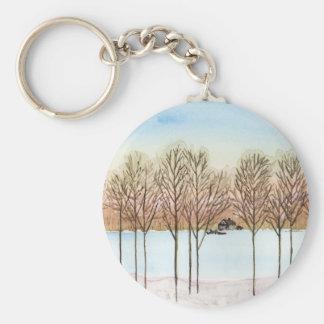 Winter Lake Keychain