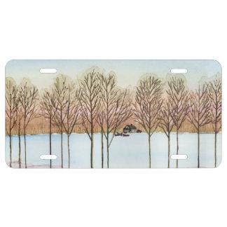 Winter Lake License Plate