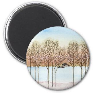 Winter Lake Magnet