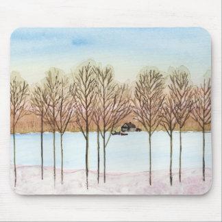 Winter Lake Mouse Pad