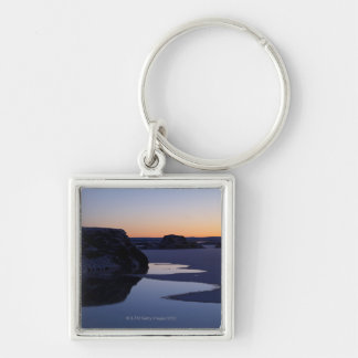 Winter, Lake Myvatn, Iceland Silver-Colored Square Keychain