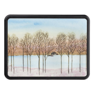 Winter Lake Trailer Hitch Cover