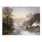 Winter landscape, 1869 postcard