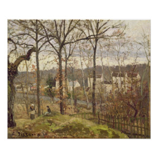 Winter Landscape at Louveciennes, c.1870 Poster