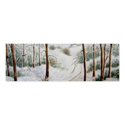 Winter Landscape Bookmark Business Card