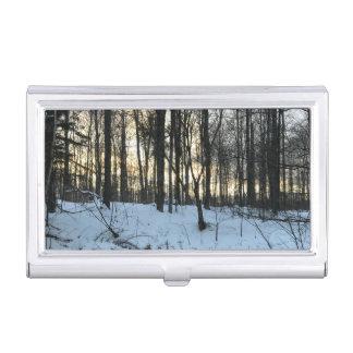 Winter Landscape Business Card Holder Case