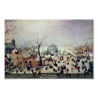 Winter Landscape By Avercamp Hendrik Poster