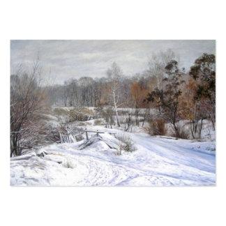 Winter Landscape Calendar Business Card