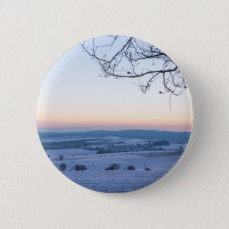 Winter landscape in Germany in the morning 2 Inch Round Button