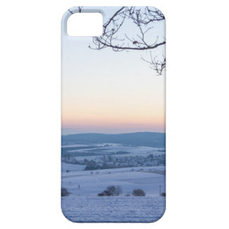 Winter landscape in Germany in the morning iPhone 5 Case