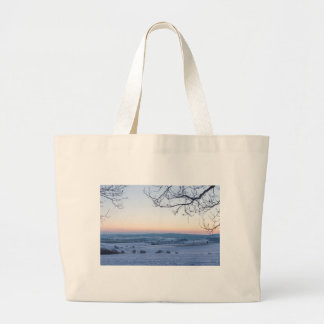 Winter landscape in Germany in the morning Large Tote Bag