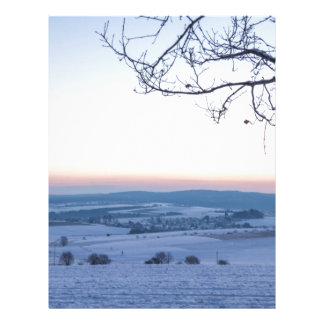 Winter landscape in Germany in the morning Letterhead