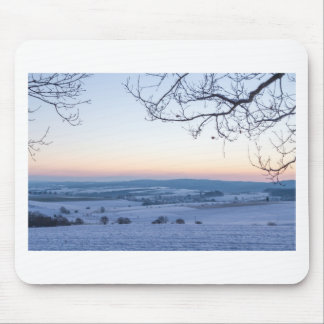 Winter landscape in Germany in the morning Mouse Pad
