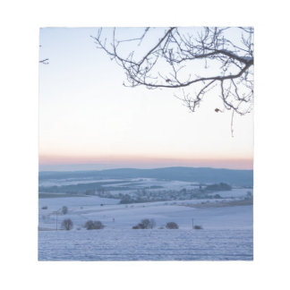 Winter landscape in Germany in the morning Notepads