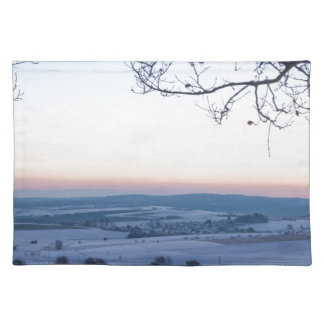 Winter landscape in Germany in the morning Place Mat