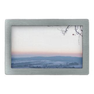 Winter landscape in Germany in the morning Rectangular Belt Buckle