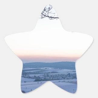 Winter landscape in Germany in the morning Star Sticker