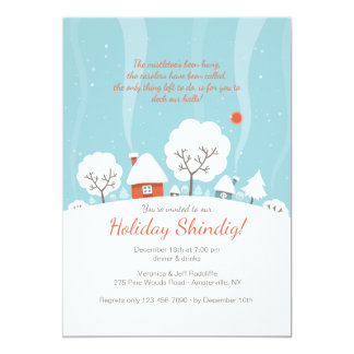Winter Landscape Invitation