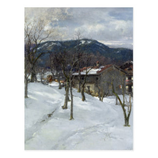 Winter landscape near Kutterling, 1899 Postcard