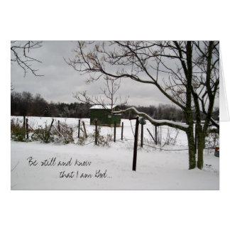 Winter Landscape Notecard