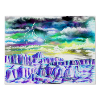 Winter Landscape Painting Poster