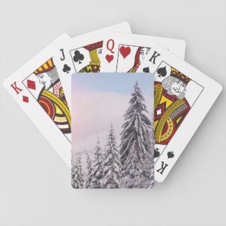 Winter landscape playing cards. playing cards