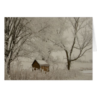 Winter Landscape Scene Holiday Greeting Card