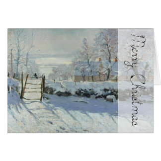 Winter Landscape The Magpie By Monet Christmas Card