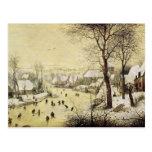 Winter Landscape with Skaters Postcard