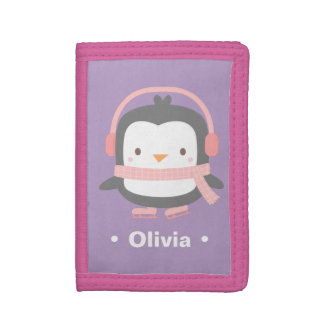 Winter Little Penguin Cute Girls Wallet