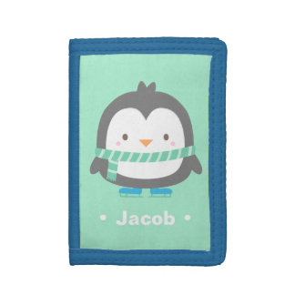 Winter Little Penguin Cute Kids Wallet