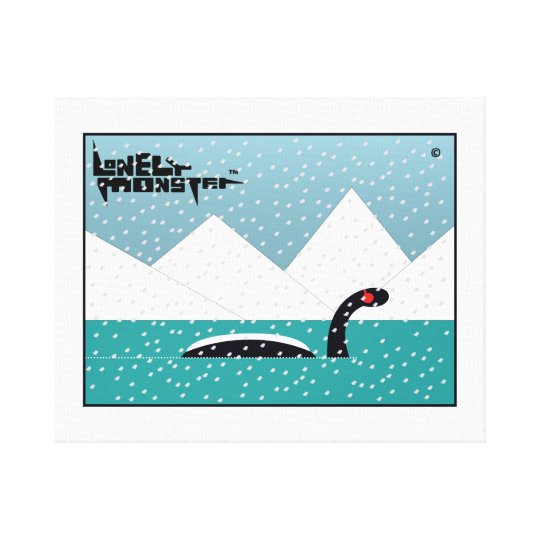 Winter Lonely Monster Canvas Print