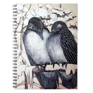 WINTER LOVE BIRDS NOTEBOOK