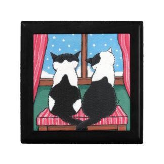 Winter Love | Cat Art Trinket Gift Box