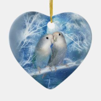 Winter Love Heart Ornament