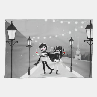 Winter Love Kitchen Towel