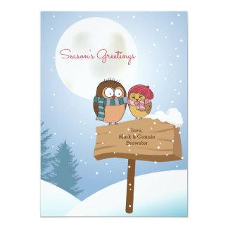 Winter Lovebirds Holiday Card