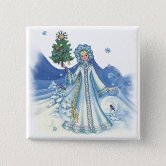 Winter Magic 2 Inch Square Button