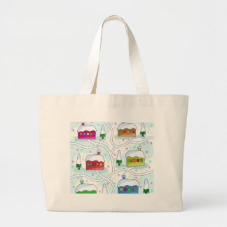 Winter magical landscape large tote bag